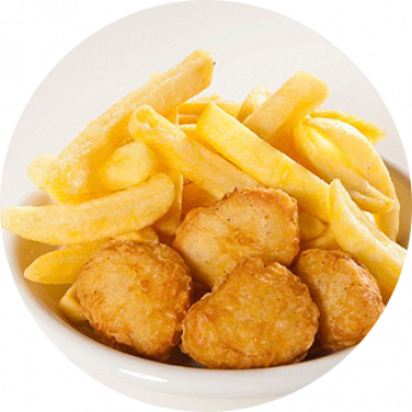 Chicken Nuggets (6) & Chips